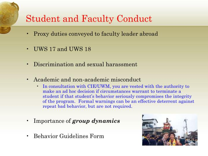 Student and Faculty Conduct