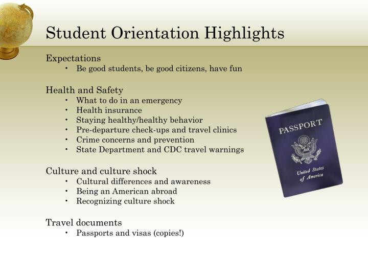 Student Orientation Highlights