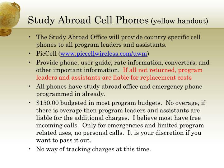 Study Abroad Cell Phones