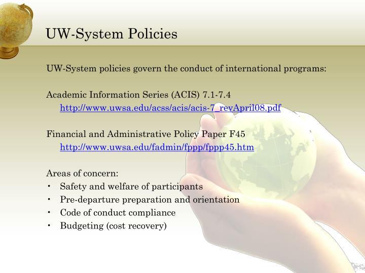 UW-System Policies