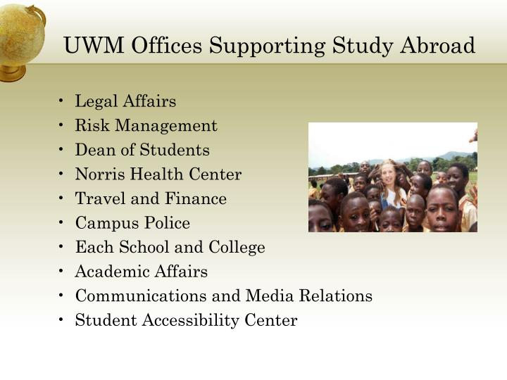 UWM Offices Supporting Study Abroad
