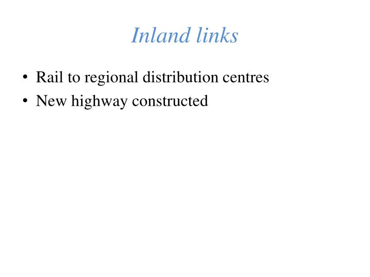 Inland links