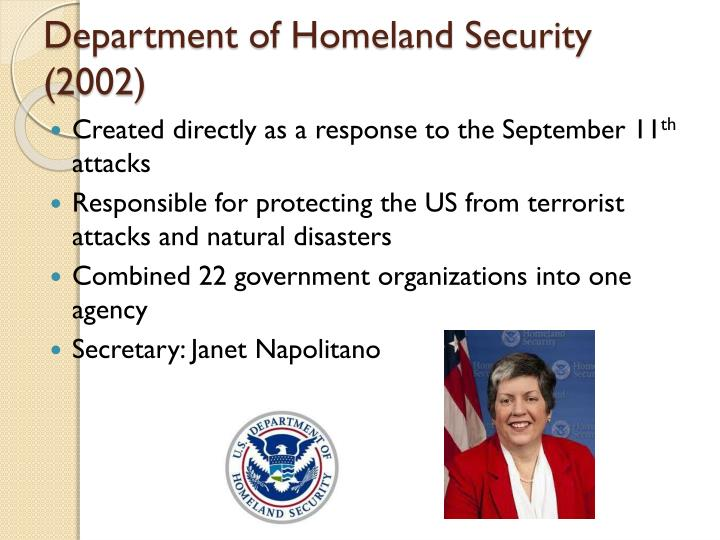 Department of Homeland Security (2002)