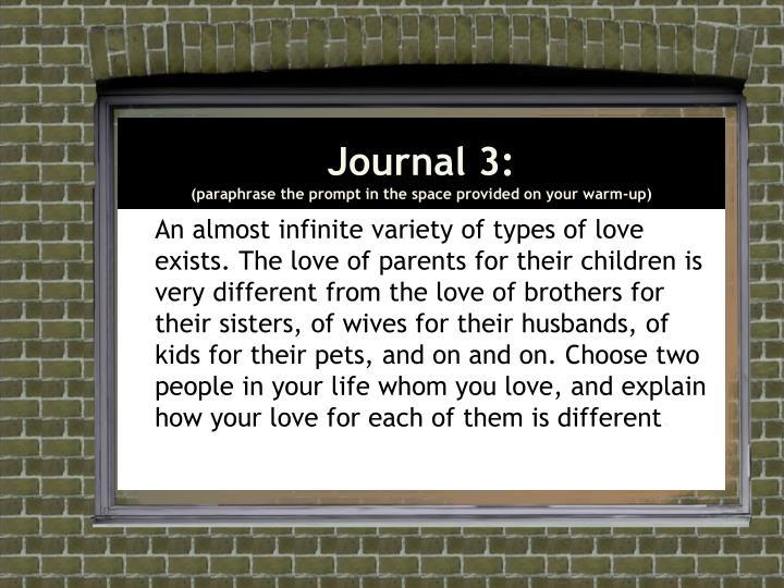 Journal 3: