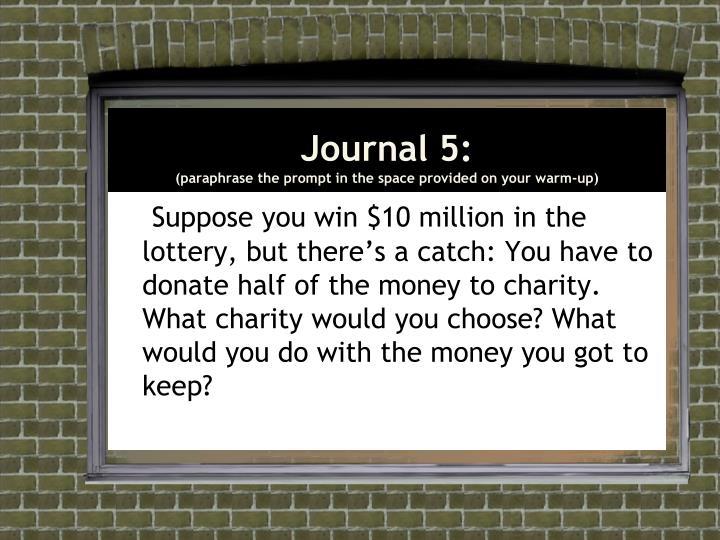 Journal 5: