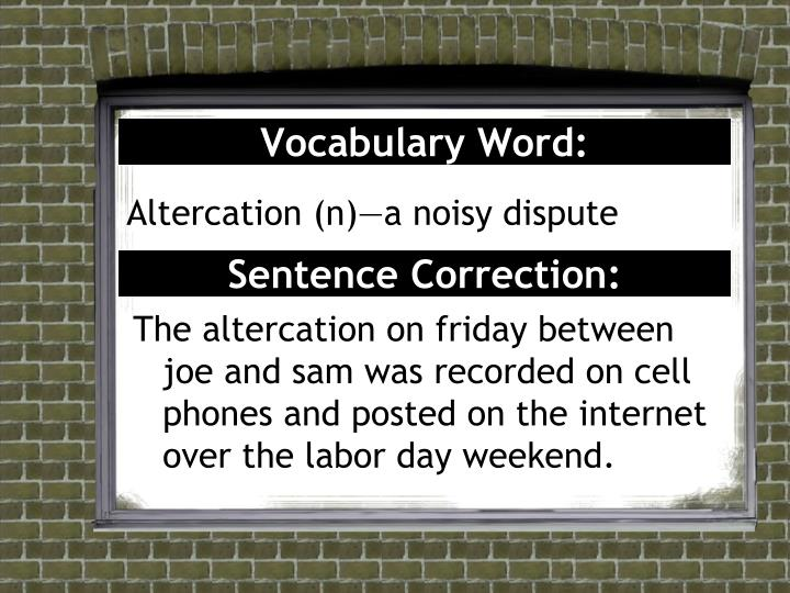 Vocabulary word