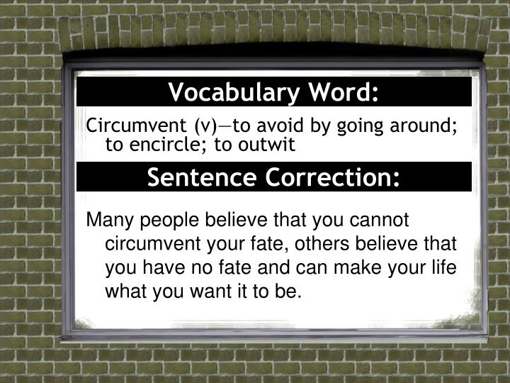 Vocabulary Word: