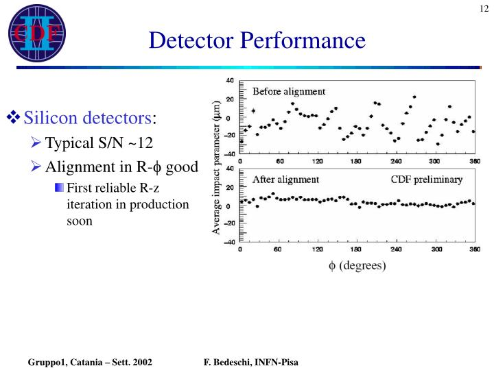 Detector Performance