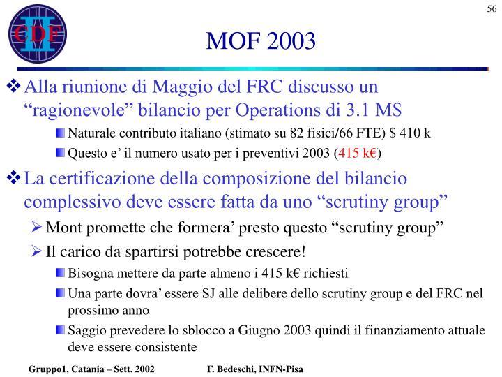 MOF 2003