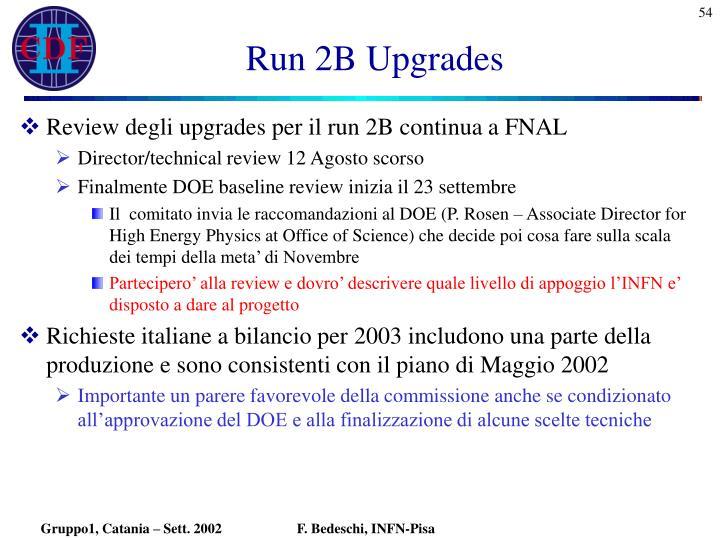 Run 2B Upgrades