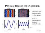 physical reason for dispersion