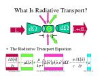 what is radiative transport