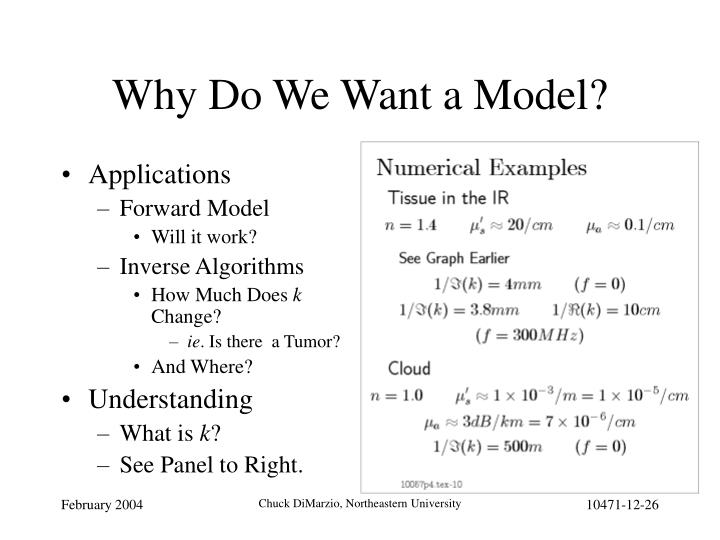 Why Do We Want a Model?