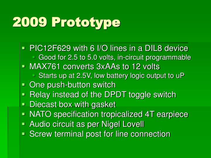 2009 Prototype