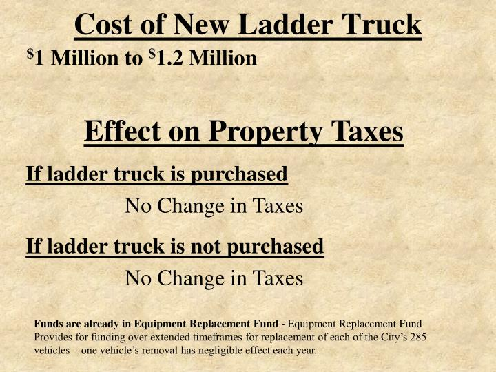 Cost of New Ladder Truck