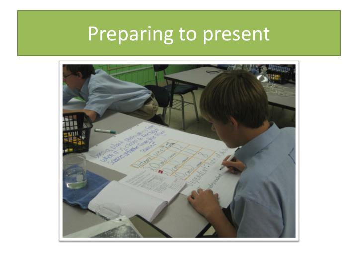 Preparing to present
