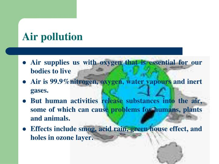 air and water pollution paper Air pollution introduction the other planets have sunlight however, the earth is the only planet known to have air and water, without which it cannot sustain life however, the quality of the air in our atmosphere is deteriorating rapidly due to the incorporation of harmful amounts of gases, dust and fumes.