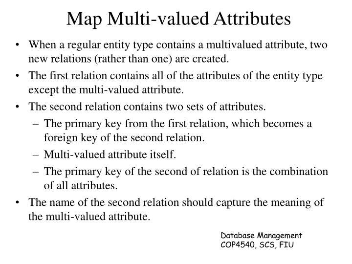 Map Multi-valued Attributes