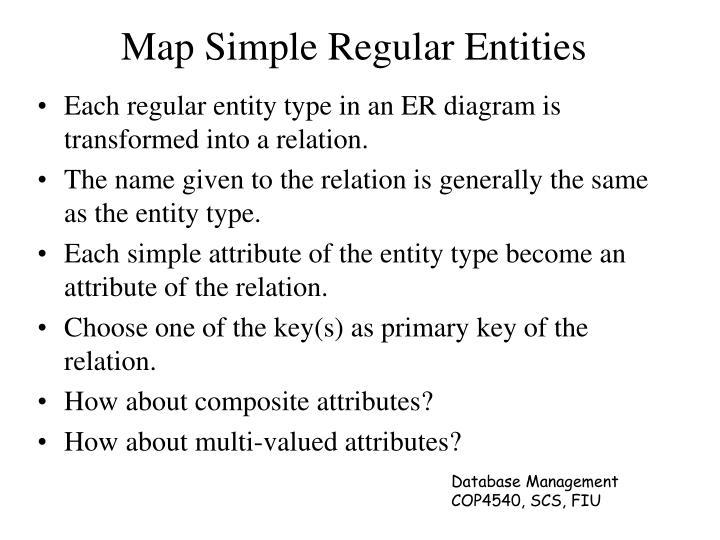 Map Simple Regular Entities