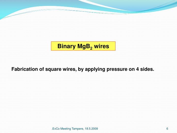 Binary MgB