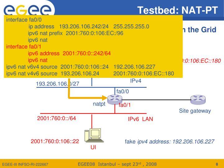 Testbed: NAT-PT