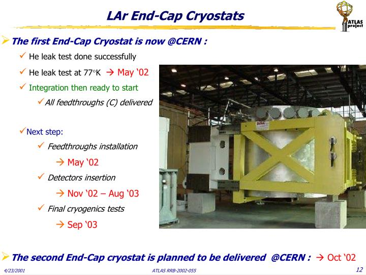LAr End-Cap Cryostats