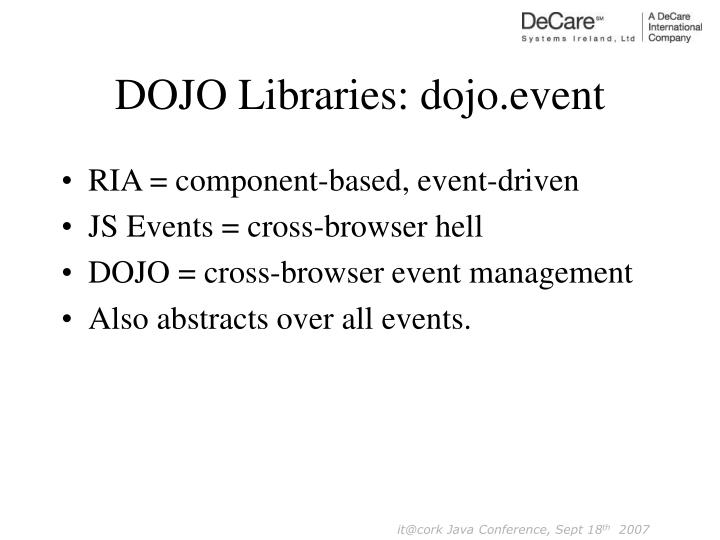 DOJO Libraries: dojo.event