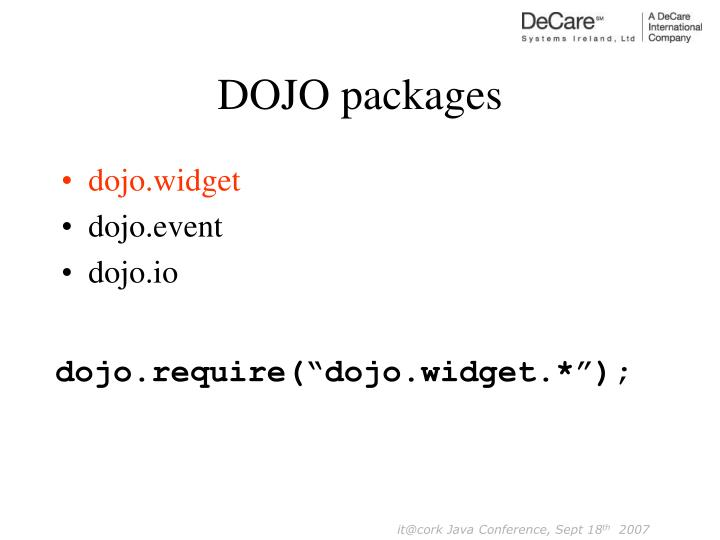 DOJO packages