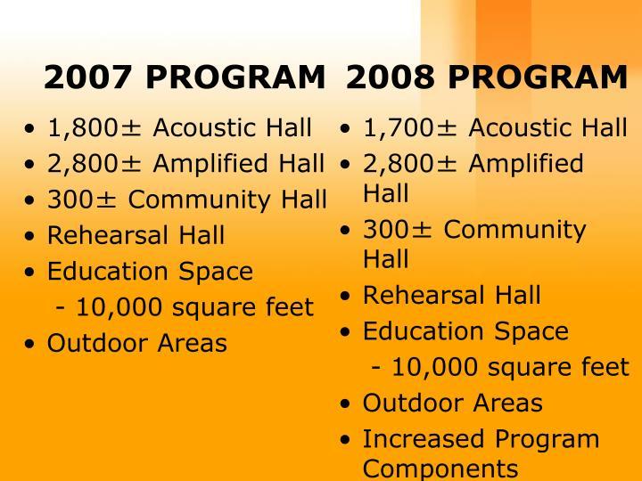 2007 PROGRAM