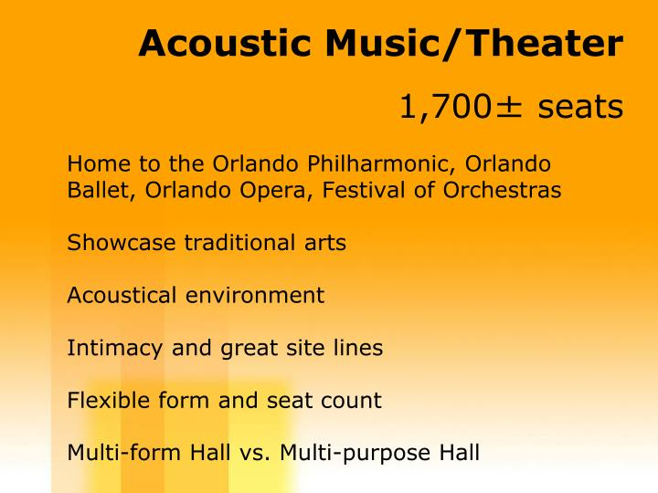 Acoustic Music/Theater