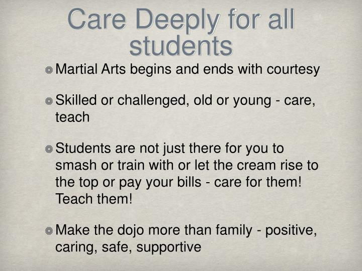 Care Deeply for all students
