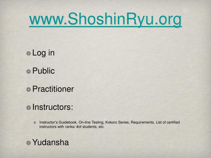 www.ShoshinRyu.org