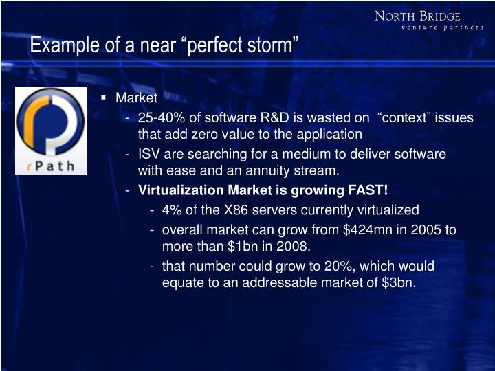 "Example of a near ""perfect storm"""