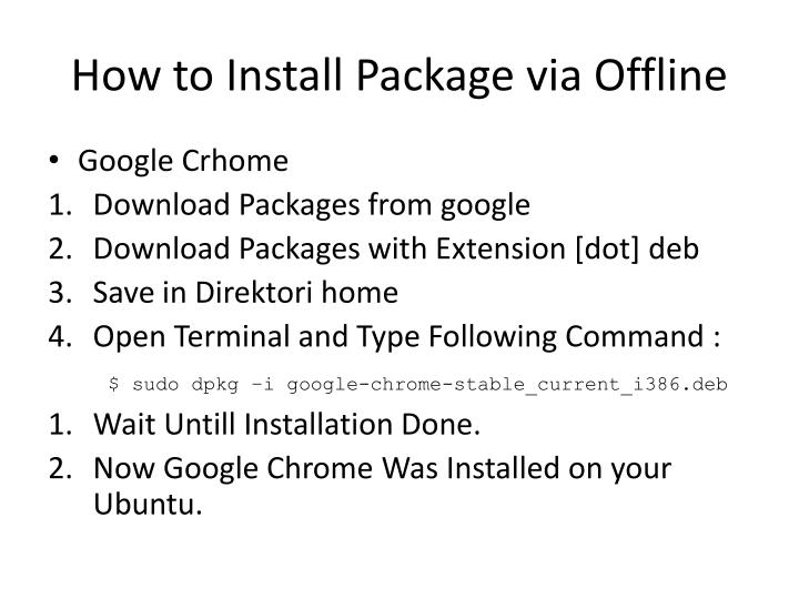 How to Install Package via Offline