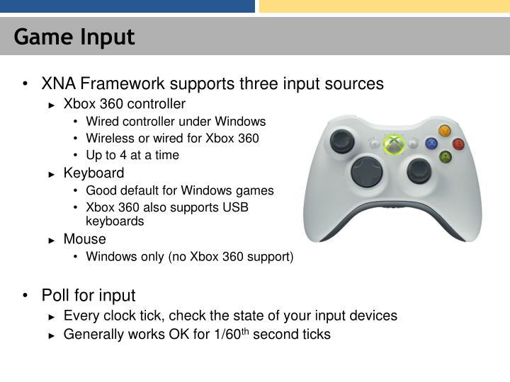 Game Input