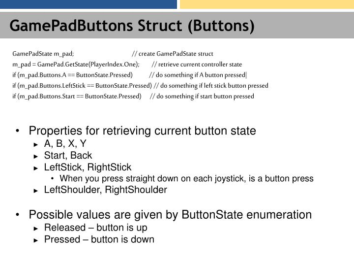 GamePadButtons Struct (Buttons)