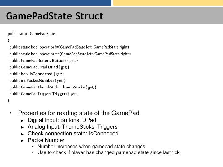 GamePadState Struct