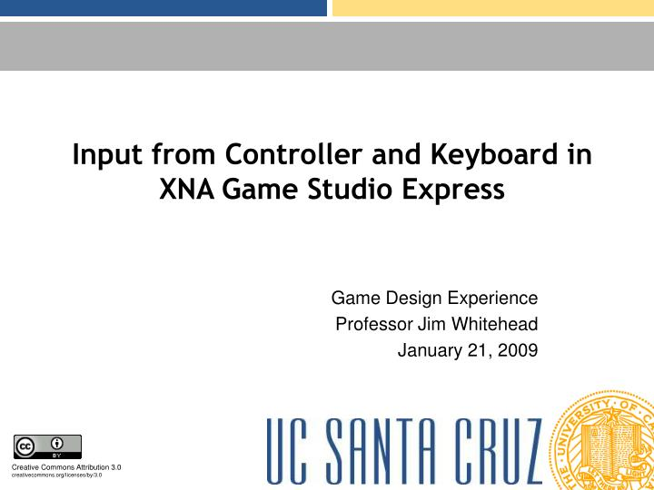 Input from controller and keyboard in xna game studio express