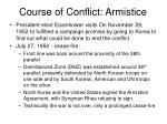 course of conflict armistice