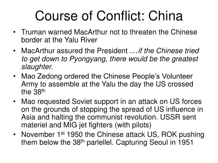 Course of Conflict: China