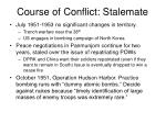 course of conflict stalemate