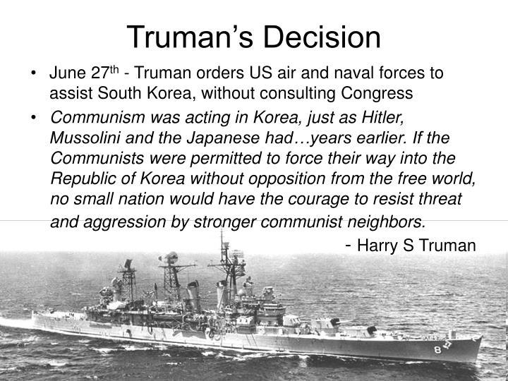 Truman's Decision