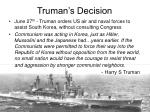 truman s decision