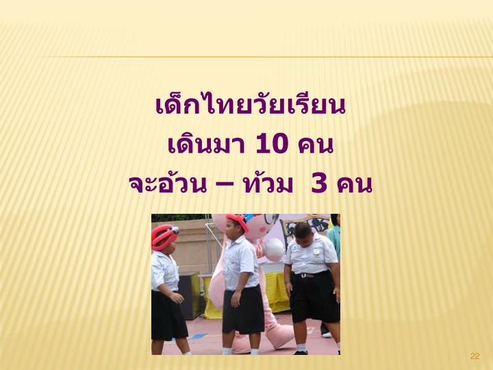 เด็กไทยวัยเรียน