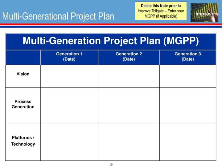 multi generational project plan template home design