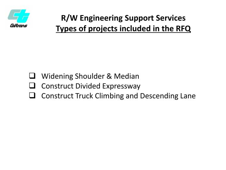 R/W Engineering Support Services