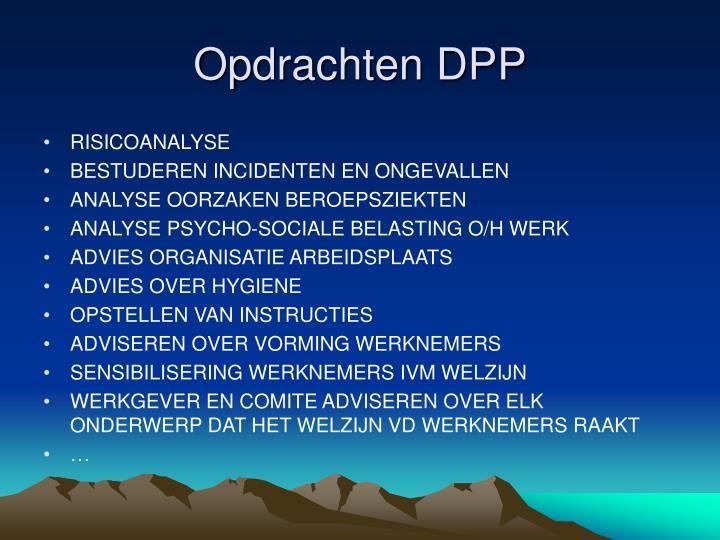 Opdrachten DPP