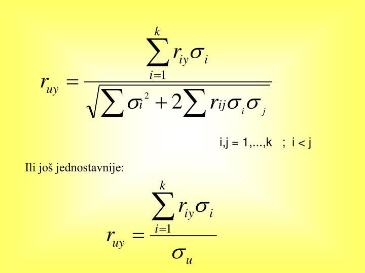i,j = 1,...,k   ;  i < j