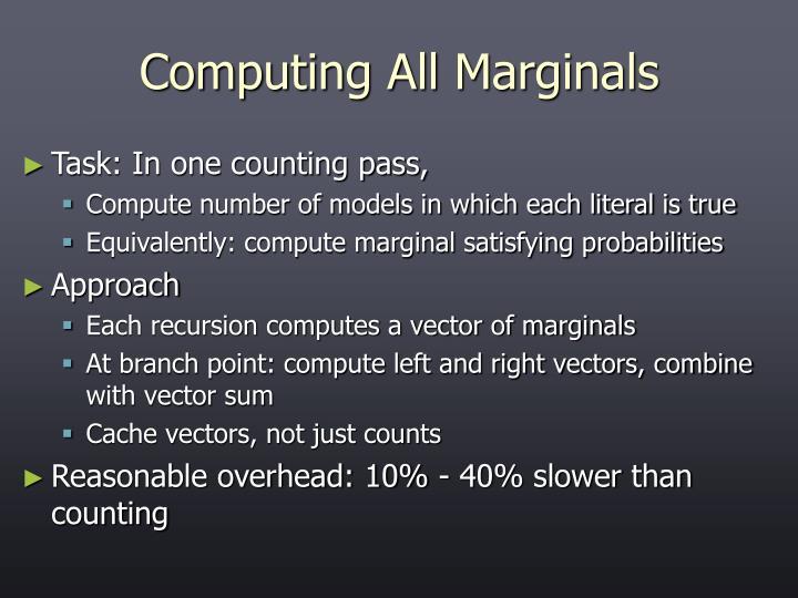 Computing All Marginals