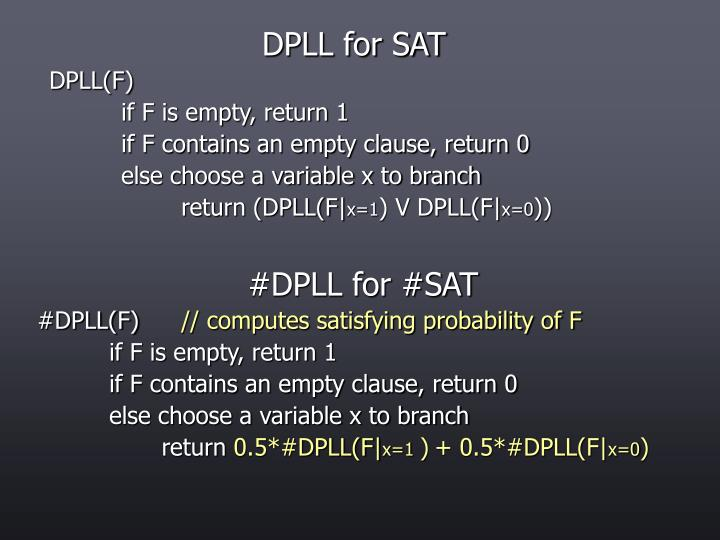 DPLL for SAT